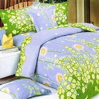 Dandelion Dream, 100% Cotton 7PC MEGA Duvet Cover Set (Queen Size)